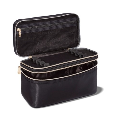 abcd08b9b4f5 Sonia Kashuk™ Double Zip Train Case Makeup Bag - Black   Target