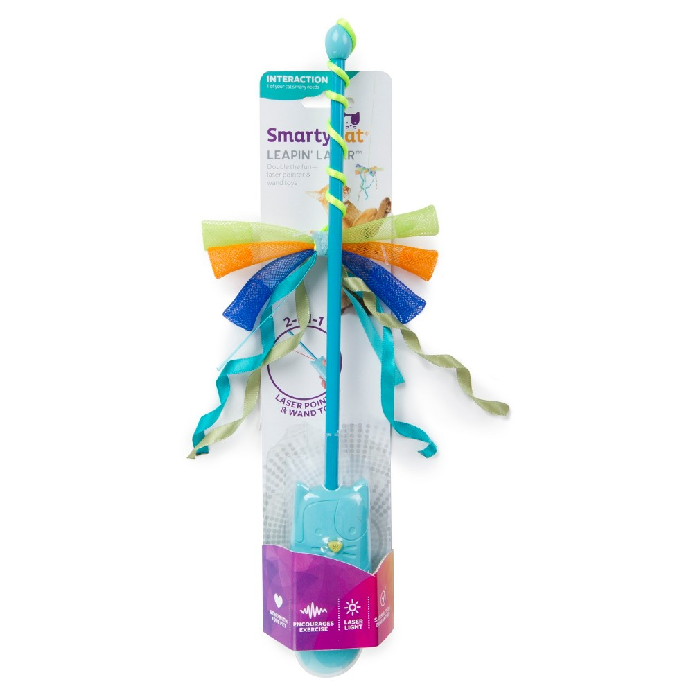 SmartyKat Leapin Laser eToy & Wand Pet Toy, Light Blue