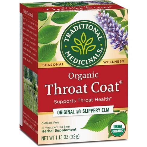 Traditional Medicinals Organic Throat Coat Herbal Dietary Supplement Herbal Tea - 16ct - image 1 of 4
