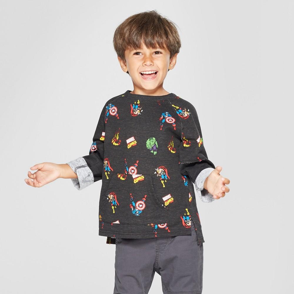 Toddler Boys' Marvel Avengers Sweatshirt - Black 3T
