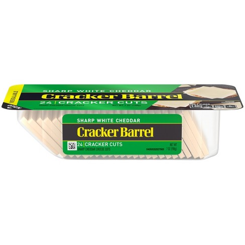 Cracker Barrel Cracker Cuts Sharp White Cheddar Cheese - 24ct/7oz - image 1 of 3