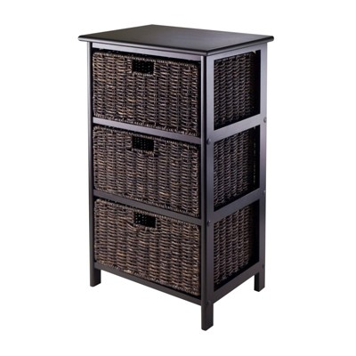 Omaha Storage Rack with Baskets Black - Winsome