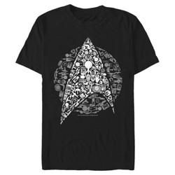 Star Trek Men's Starfleet Icon Collage T-Shirt