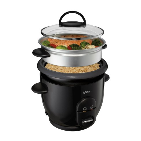 Oster DiamondForce Nonstick 6-Cup Electric Rice Cooker - Black - image 1 of 4