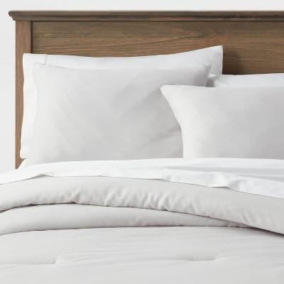 King Washed Cotton Sateen Comforter & Sham Set Light Gray - Threshold™