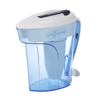 ZeroWater 12 Cup Water Pitcher with Ready-Pour + Free Water Quality Meter