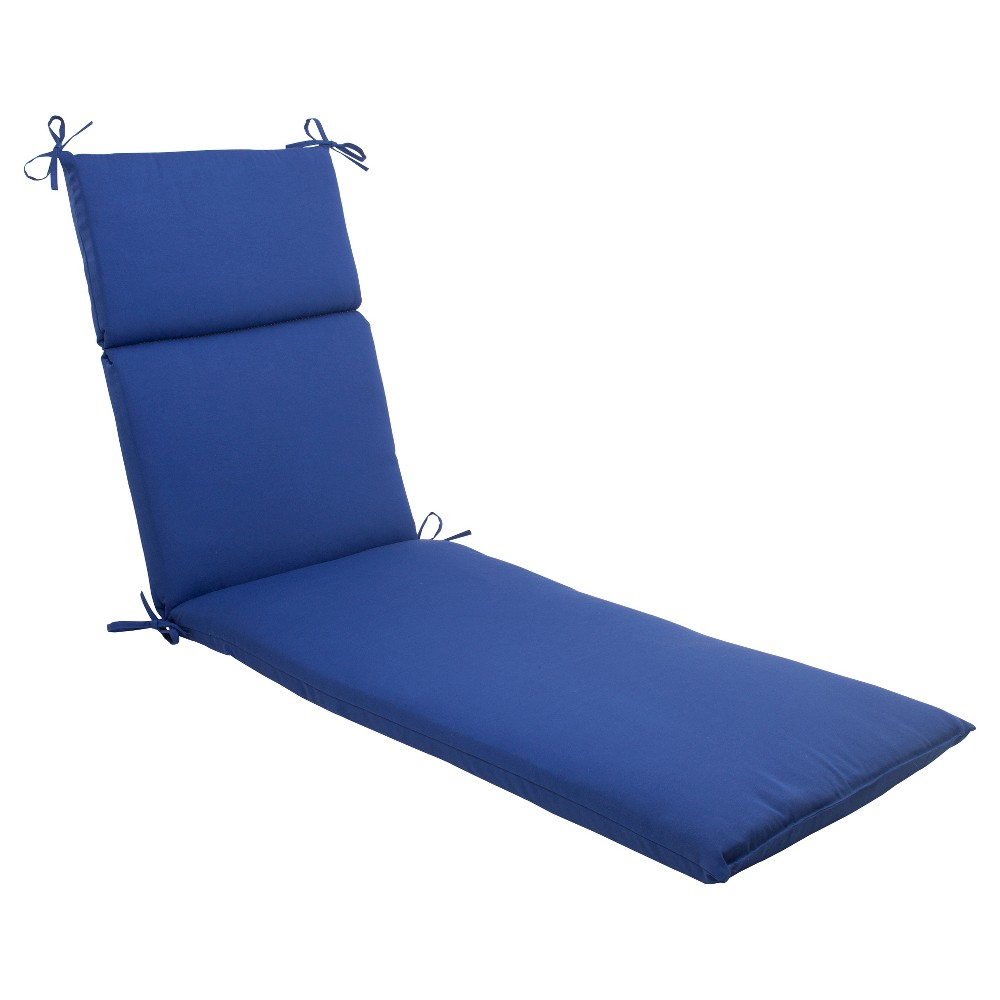 Outdoor Chaise Lounge Cushion - Navy Fresco Solid - Pillow Perfect, Navy Solid