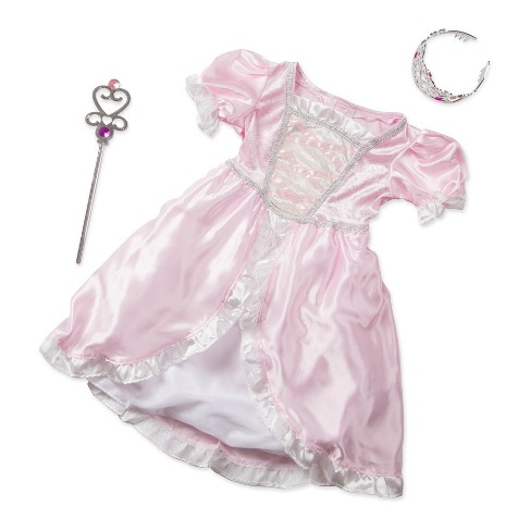 Melissa & Doug® Princess Role Play Costume Set (3pc)- Pink Gown, Tiara, Wand - image 1 of 5