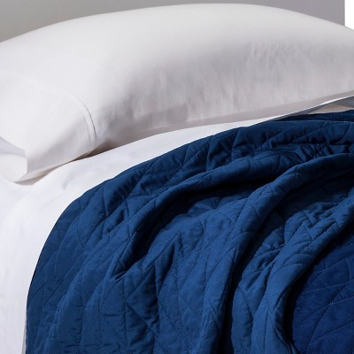 Triangle Stitch Quilt (Full/Queen)Blue - Pillowfort™