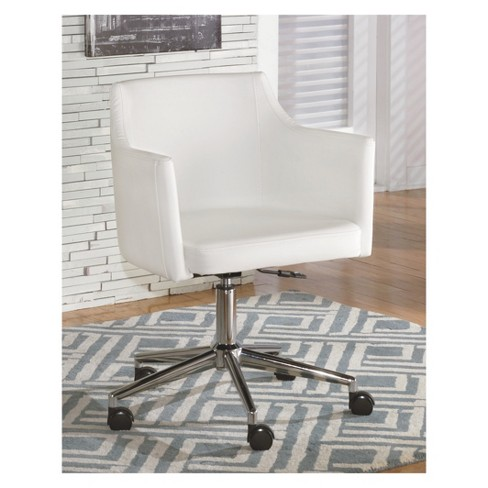 Baraga Home Office Swivel Desk Chair White Signature Design By Ashley