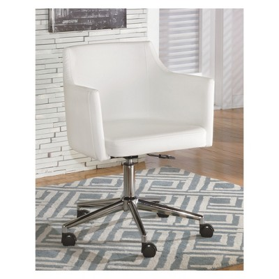 Baraga Home Office Swivel Desk Chair White   Signature Design By Ashley :  Target