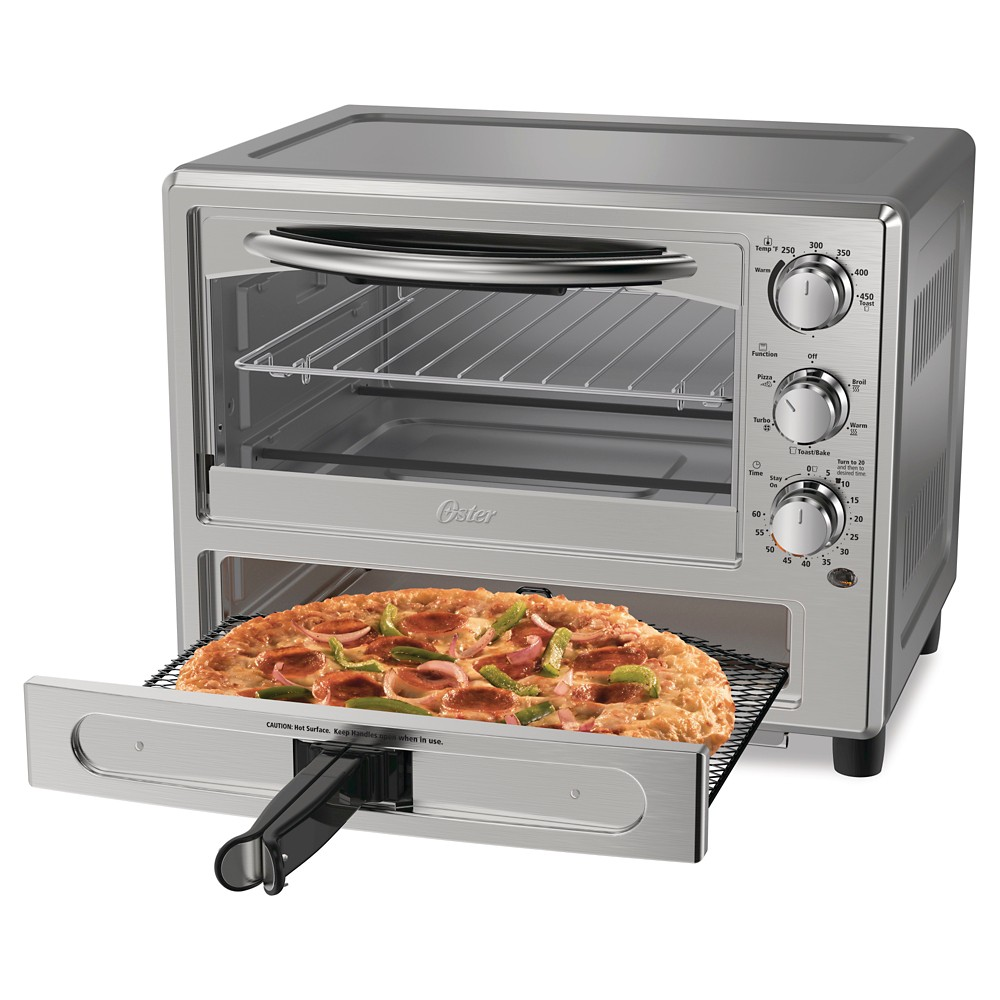 Image of Oster Pizza Toaster Oven TSSTTVPZDA, Silver