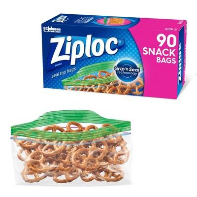 Ziploc Storage Snack Bags - 90ct