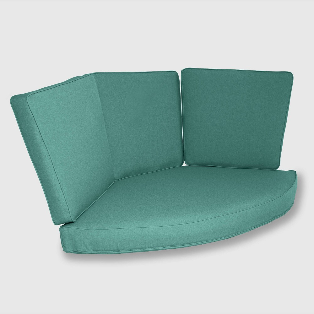 Halsted 4pc Outdoor Half Round Corner Sectional Cushion Set Turquoise Threshold 8482