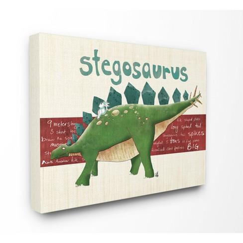 Stegosaurus Dinosaur Stretched Canvas Wall Art - Stupell Industries ...