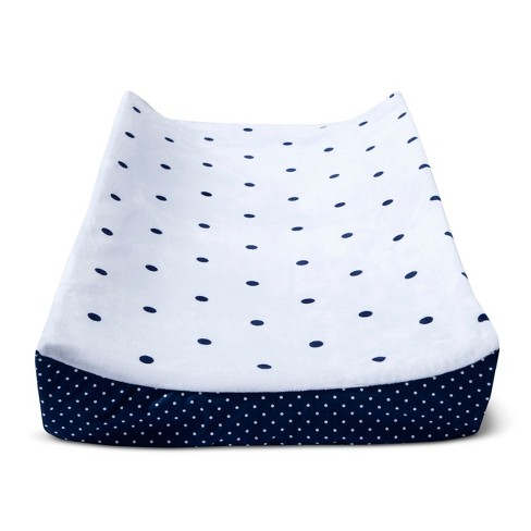 Plush Changing Pad Cover Dots - Cloud Island™ - Navy - image 1 of 1