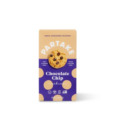 Partake Gluten Free Vegan Chocolate Chip Cookies - 5.5oz - image 1 of 3