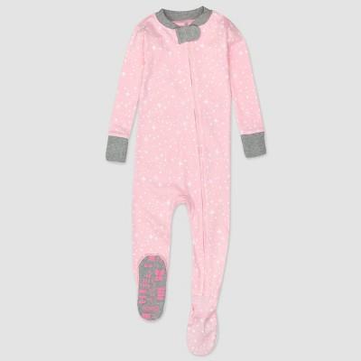 Honest Baby Twinkle Star Print Snug Fit Footed Pajama - Pink 24M