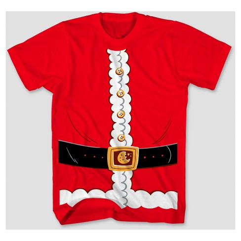 Men's Big & Tall Santa Costume Short Sleeve T-Shirt - Red - image 1 of 1