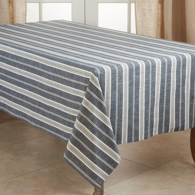 Cotton Striped Tablecloth - Saro Lifestyle