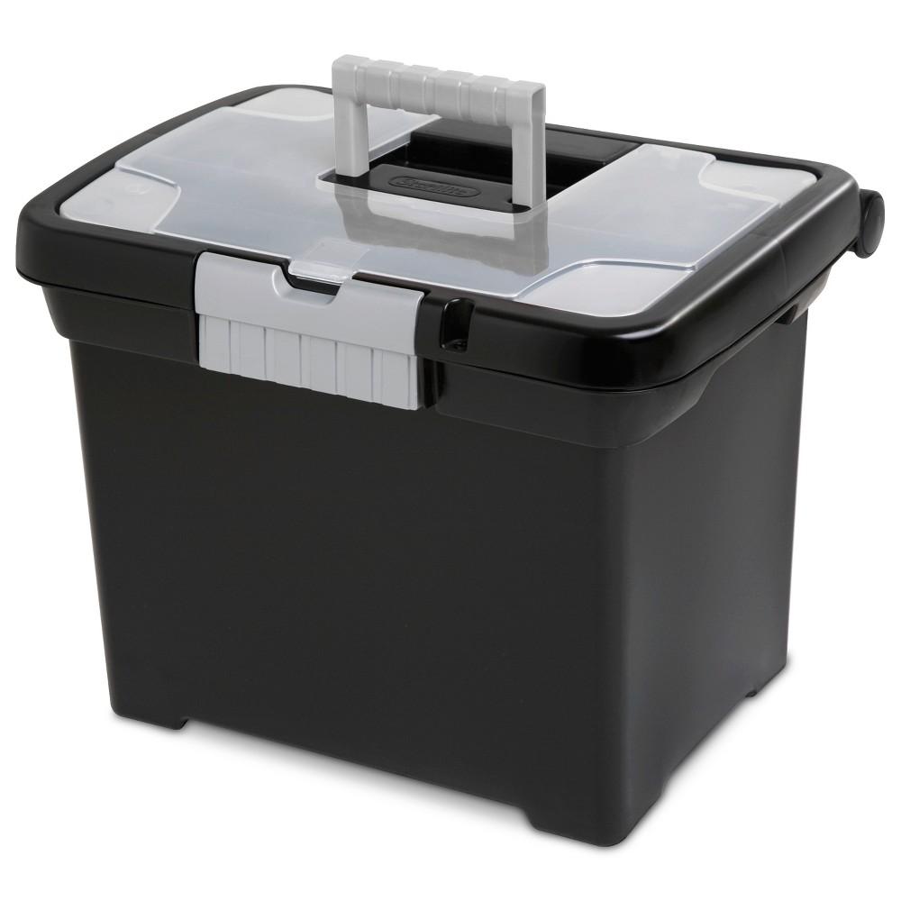 Image of Sterilite Medium Letter File Box Black