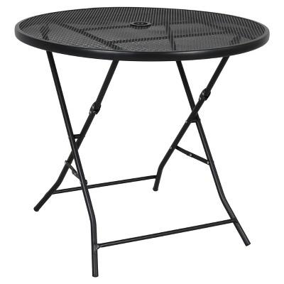 32  Metal Mesh Folding Patio Table - Threshold™