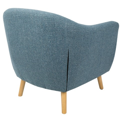 Rockwell Mid Century Modern Chair With Noise Fabric Blue Lumisource Target