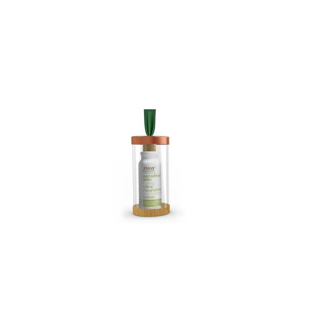 Image of Raw Sugar Body Lotion Ornament Green Tea + Cucumber + Aloe - 3 fl oz