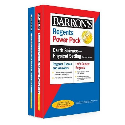 Regents Earth Science--Physical Setting Power Pack Revised Edition - (Barron's Regents NY) by  Edward J Denecke (Paperback)