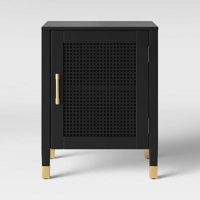 Duxbury Nightstand With Storage Black - Threshold™
