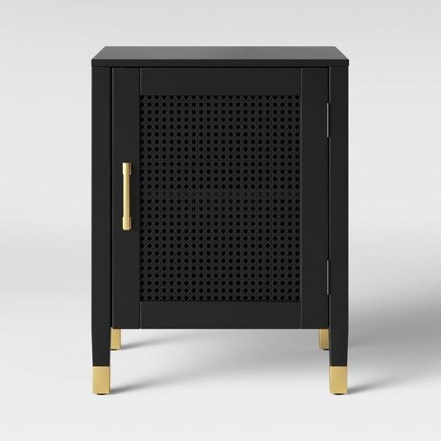 Duxbury Nightstand With Storage Black - Threshold™ - image 1 of 4