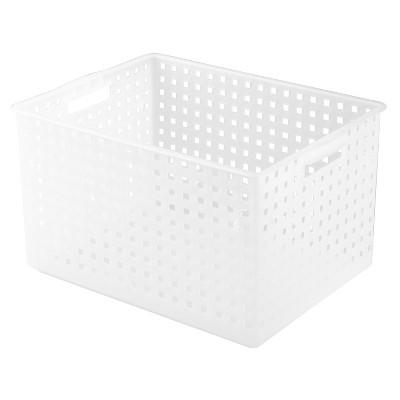 InterDesign Plastic Modular Storage Basket - Textured Frost (Small)