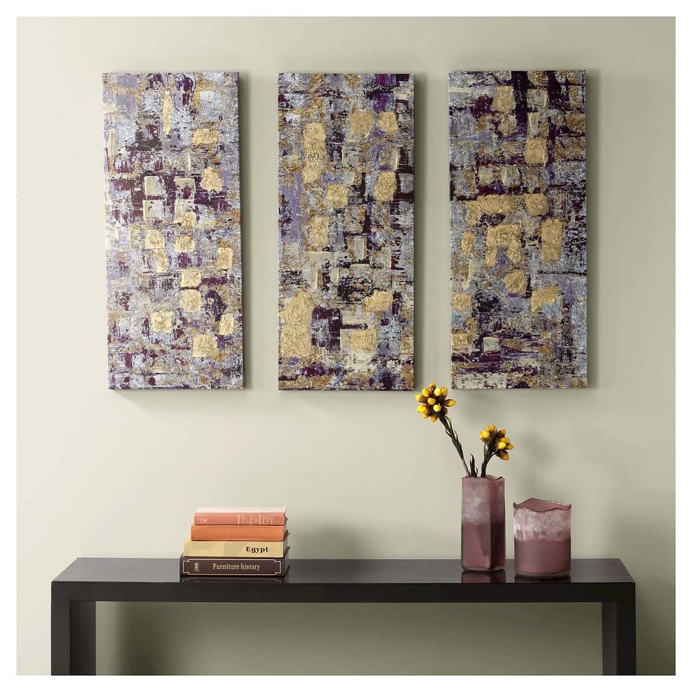 Blakely Bering Gel Coat Printed Canvas 3 Piece Set, Purple