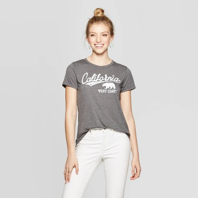 Women's Casual Fit Short Sleeve Crewneck Nor Cal Graphic T-Shirt - Modern Lux Gray