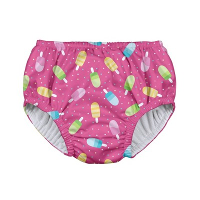 i play Baby Girls' Popsicles Pull-up Reusable Swim Diaper - Pink M