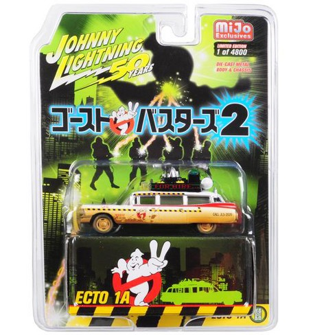"1959 Cadillac Ecto-1A (Dirty) ""Ghostbusters 2"" Japanese Retro Packaging Ltd Ed 4800pcs 1/64 Diecast Car Johnny Lightning - image 1 of 1"