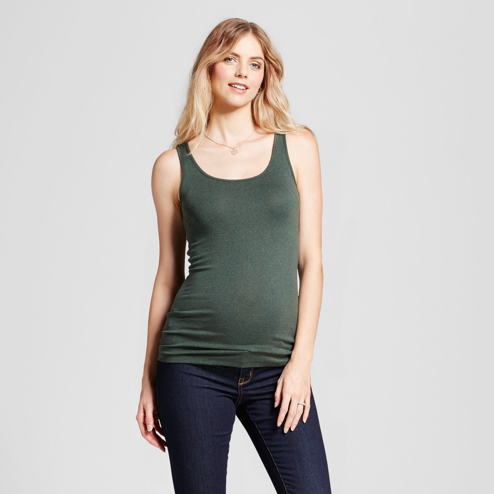 Maternity Scoop Neck Tank - Isabel Maternity by Ingrid & Isabel Green Heather XS, Women's