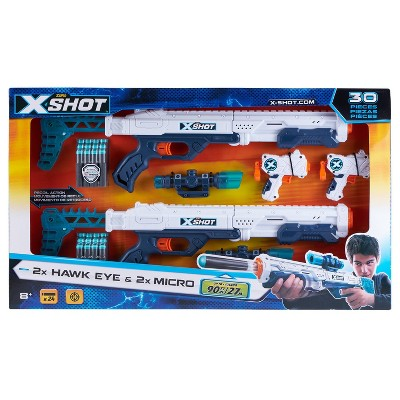 Zuru X-Shot Combo Two Hawk Eye and Two Micro