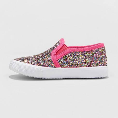 9165932f610c Toddler Girls  Madigan Slip On Glitter Sneakers With Glitter - Cat   Jack™    Target