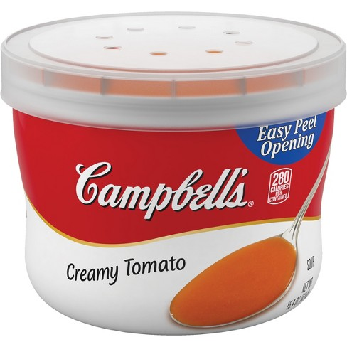 Campbell's® Creamy Tomato Soup Microwaveable Bowl 15.4 oz - image 1 of 5