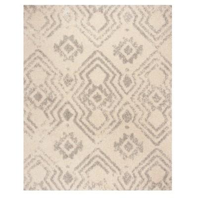 Ivory/Gray Geometric Loomed Area Rug 9'X12' - Safavieh