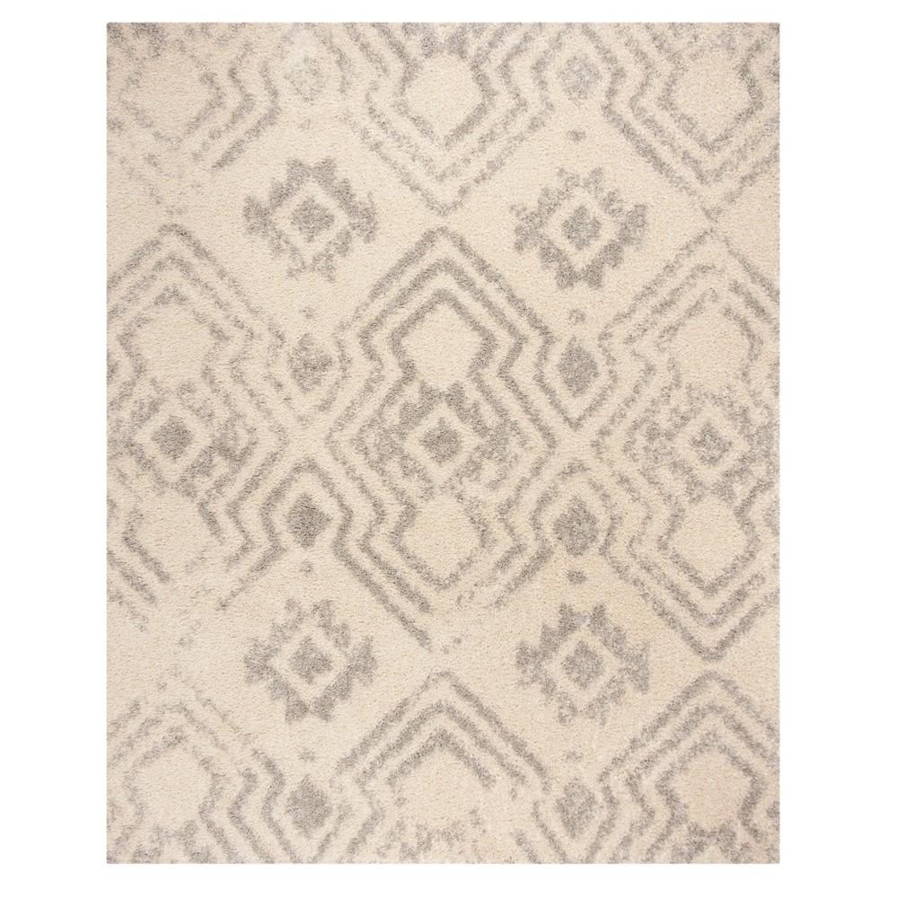Ivory/Gray Geometric Loomed Area Rug 9'X12' - Safavieh, White Gray