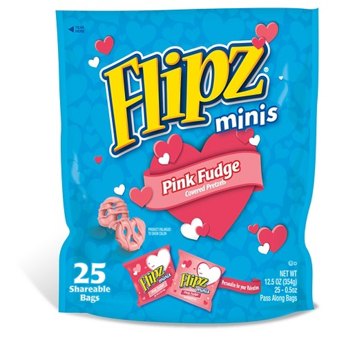 Flipz Minis Pink Fudge Covered Pretzels - 25/0.5oz - Kellogg's - image 1 of 1