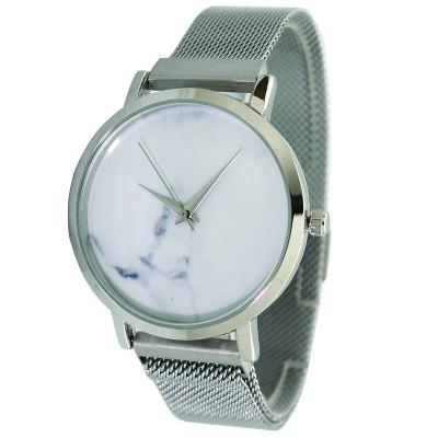 Olivia Pratt Mesh Fashion Watch With Magnetic Closure - Silver
