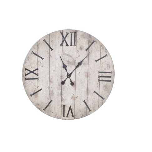 "24"" Wall Clock Rustic Weathered Wood - Threshold™ - image 1 of 2"