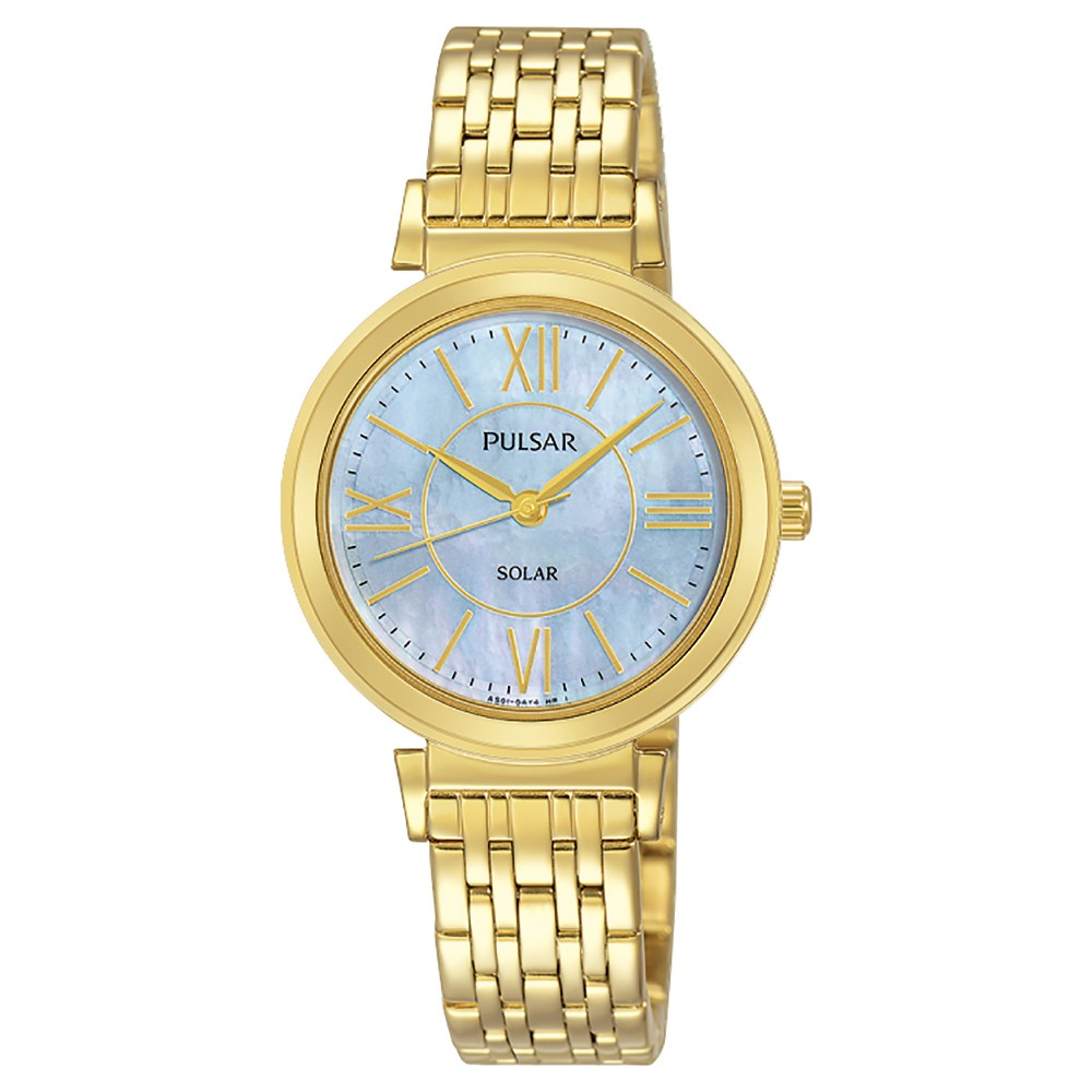 Ladies Pulsar Solar - Gold Tone with Mother of Pearl Dial - PY5030