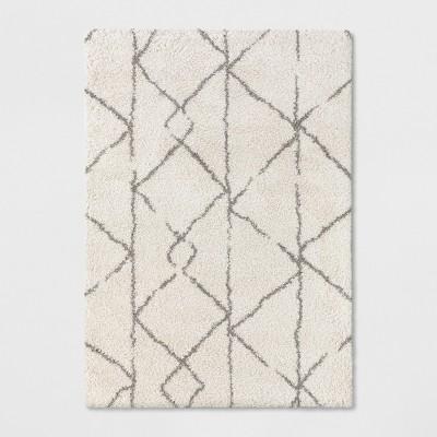 7'X10' Geometric Design Woven Area Rugs Cream - Project 62™