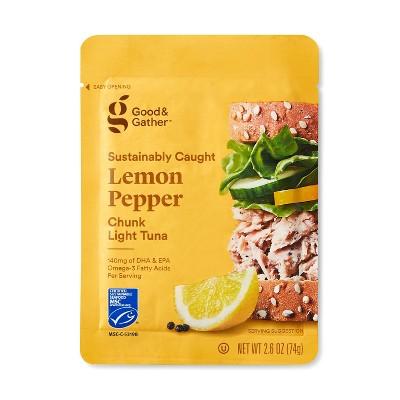 Lemon Pepper Chunk Light Tuna - 2.6oz - Good & Gather™