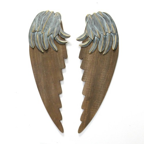 Rustic Angel Wings Brown Stratton Home Decor