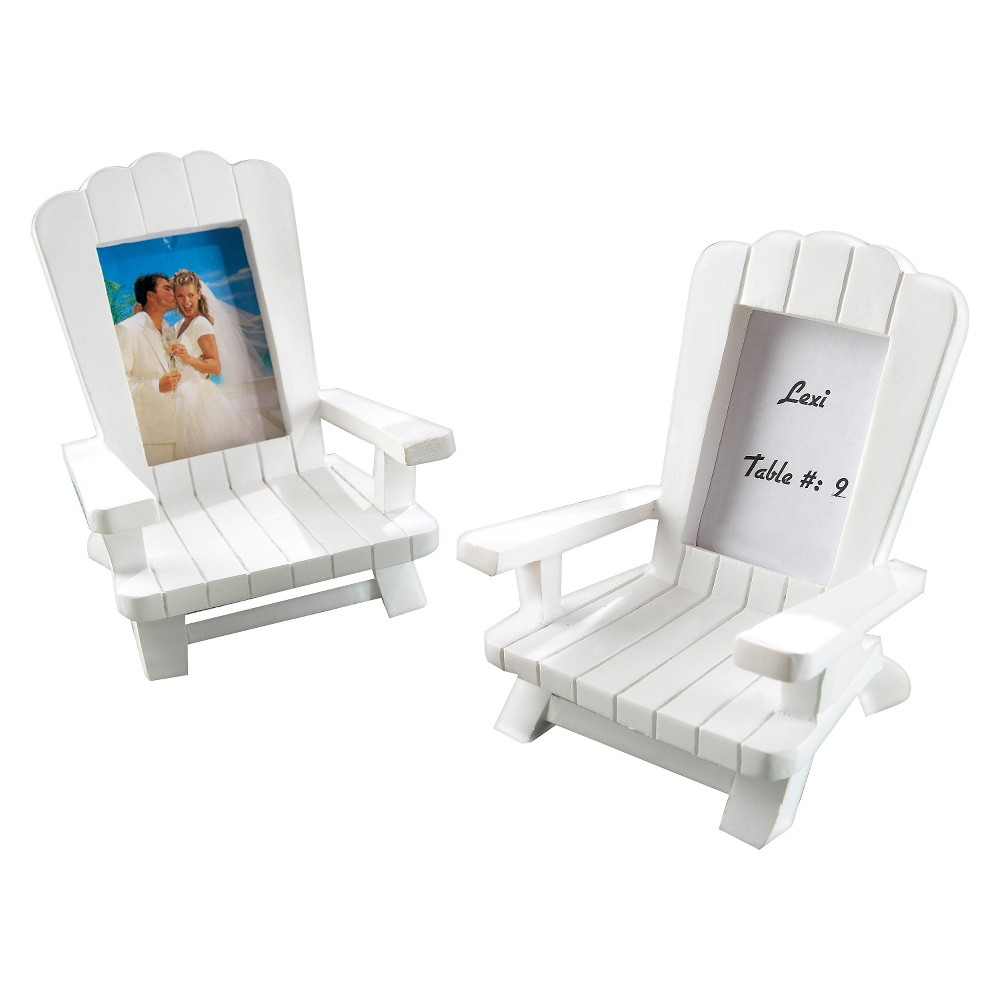 "Image of ""12ct """"Beach Memories"""" Miniature Adirondack Chair Place Card/Photo Frame"""